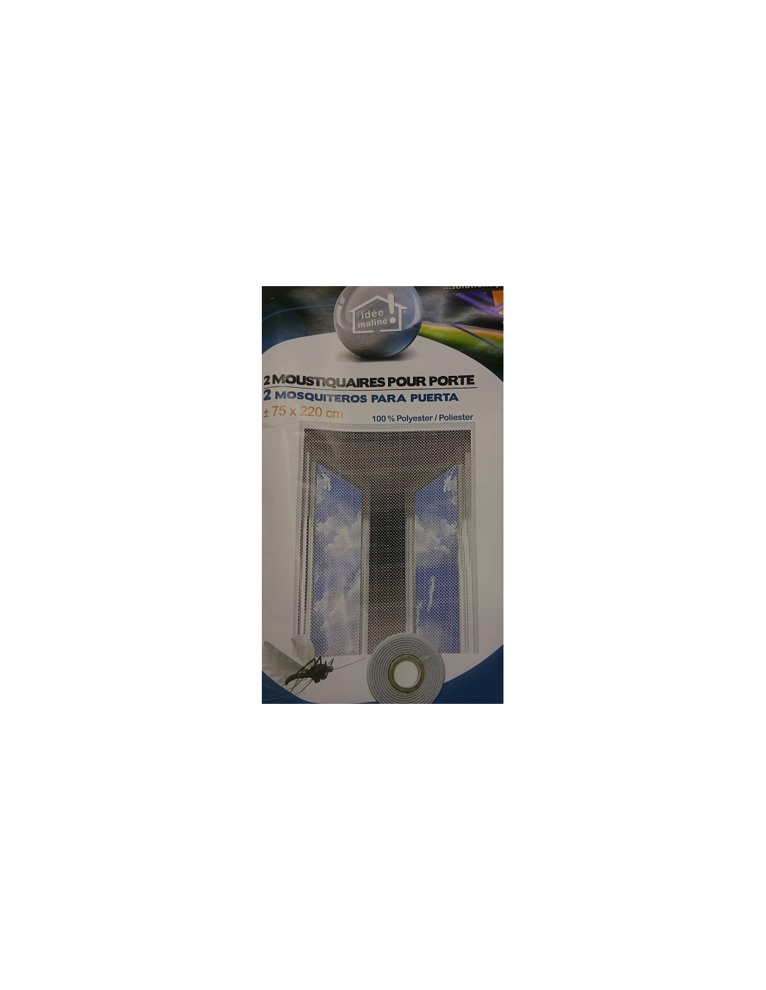 Cortina mosquitera anti insectos para puerta 2 und x for Puertas 75 x 200