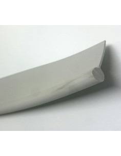 Rainure en PVC pour jupe ou devant 1 mètre gris
