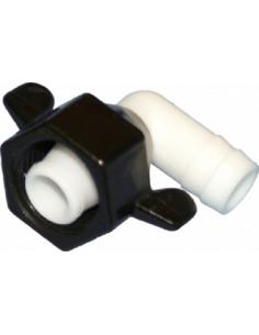 Racord conexión para AQUA8 FIamma en codo de 12mm de rosca