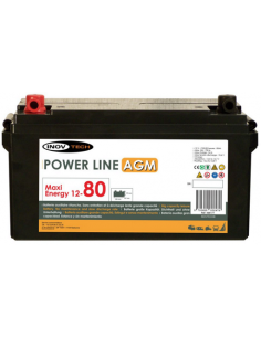 Bateria Auxiliar Power Line 80 AGM - Inovtech