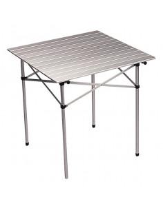 Mesa cuadrada aluminio plegable 70x70 cm Midland
