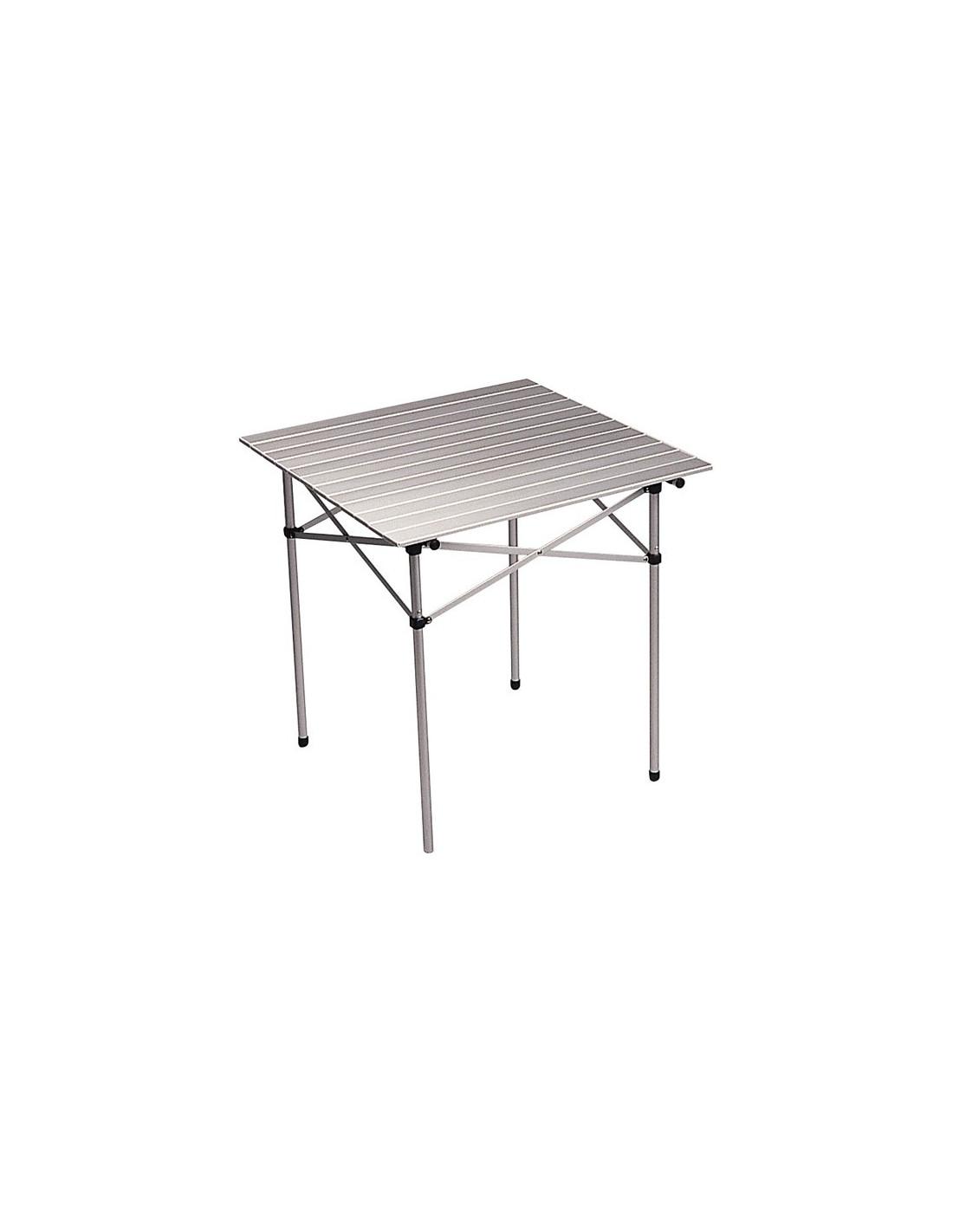 Mesa cuadrada aluminio plegable 70x70 cm midland tienda for Mesa plegable de aluminio para camping