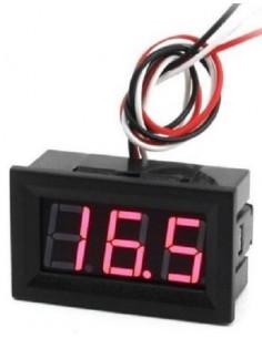 Voltimètre Numérique 100 VDC Rojo