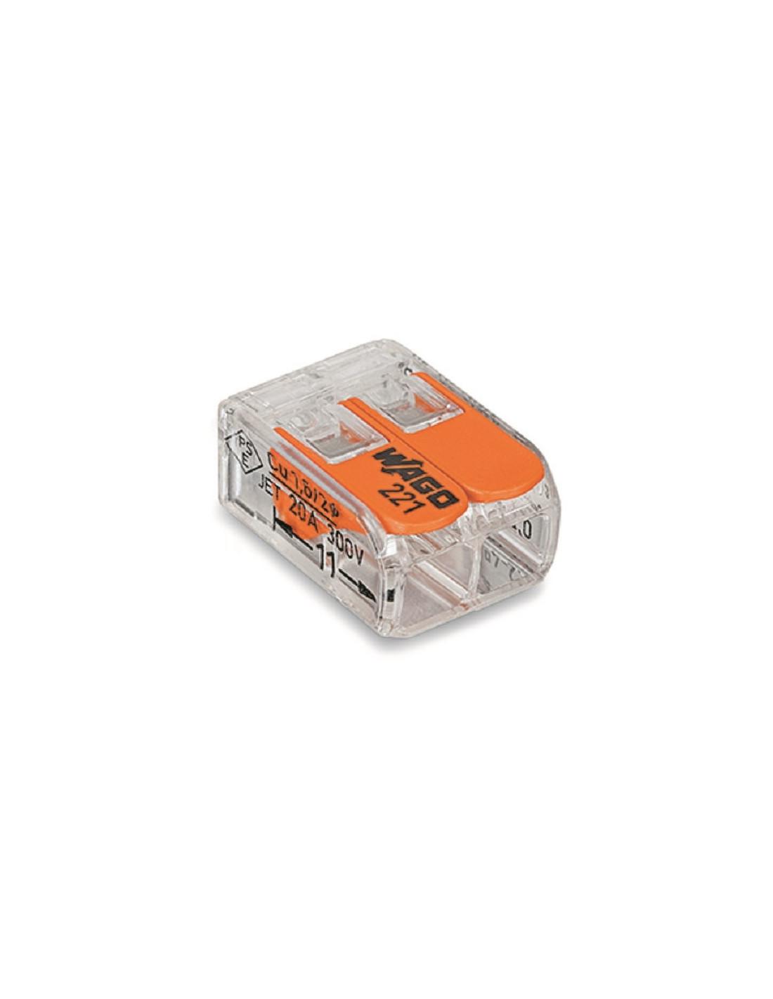 Regleta de empalmes wago 221 de 2 cables tienda de - Regleta para cables ...