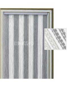Cortina Korda  gris y blanca 60x190 cm