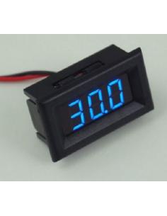 Voltimètre Numérique 100 VDC Bleu