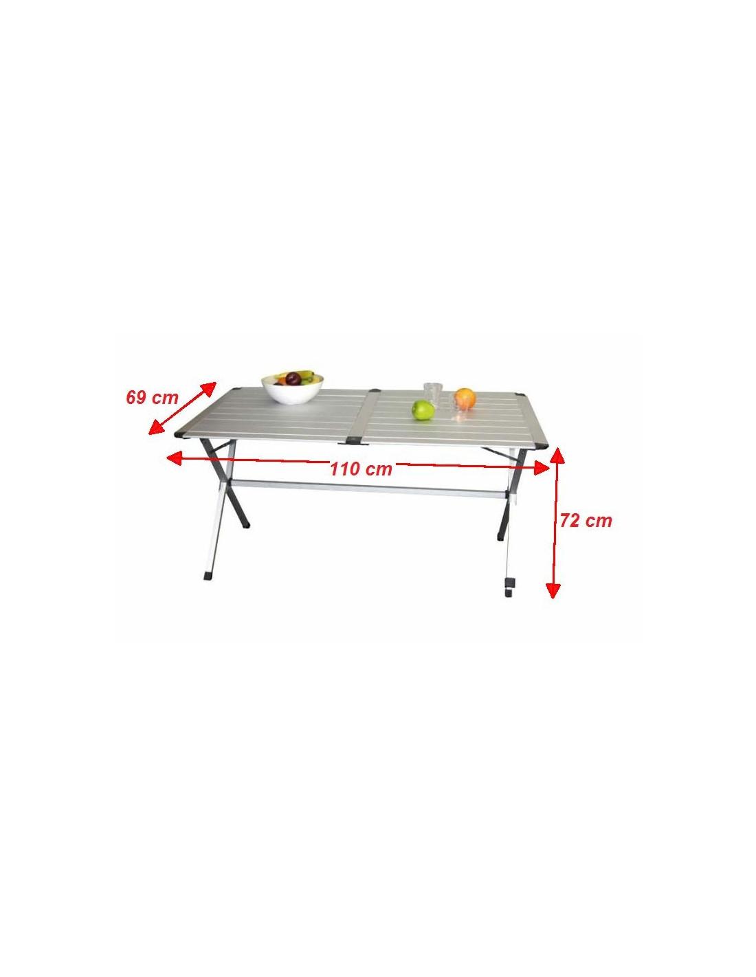 Mesa aluminio plegable 4 personas 110cm tienda de for Mesa de camping plegable de aluminio