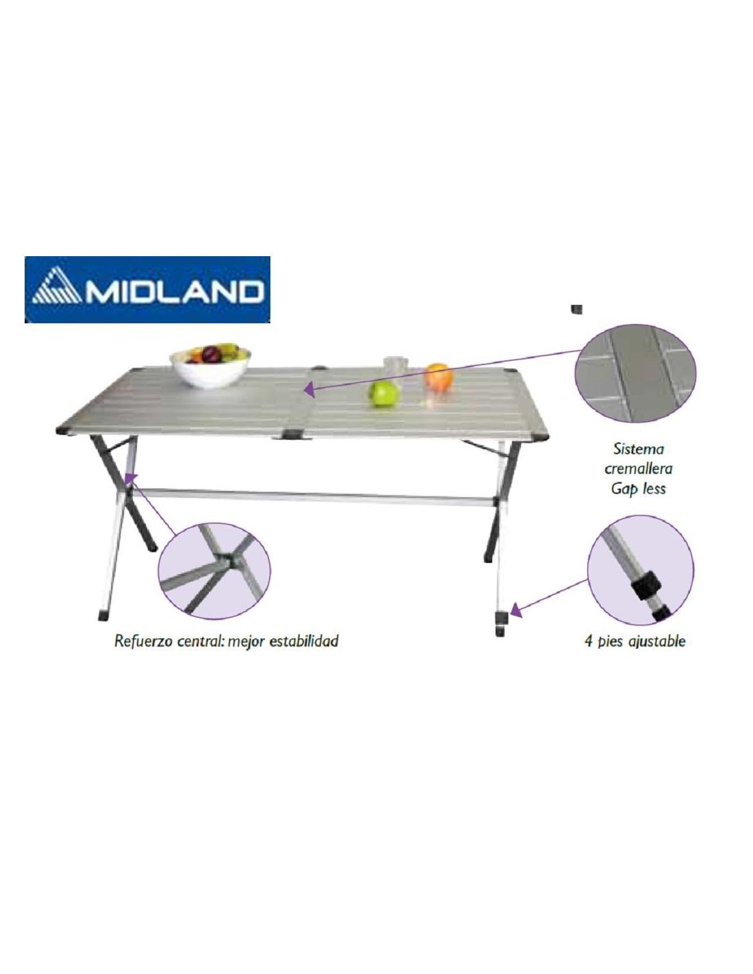 Mesa aluminio plegable 4 personas 110cm tienda de - Mesa plegable camping carrefour ...