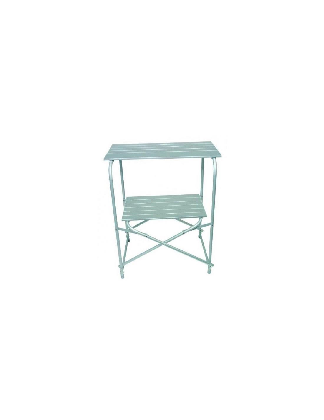 Mueble mesa cocina en aluminio midland pliant laki for Muebles de cocina de aluminio