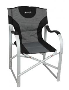 MIDLAND cinza e cadeira de diretor de alumínio preto