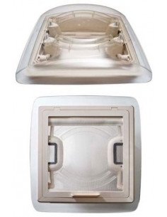 Clarabóia Transparente Ventilador S 28 X 28 cm