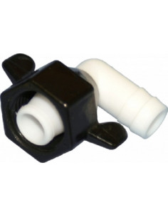Racord conexión en codo de 10mm de rosca