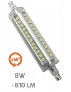 Lâmpada bulbo LED R7S 360 ° luz fria EDM 118MM