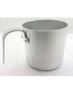 Taza aluminio, diámetro 8cm