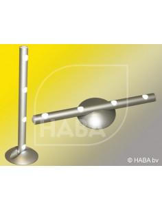 Regleta led tubular con base magnética