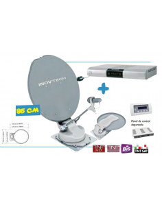 Pack Antenne Satellite Automatique SatFinder + Décodeur