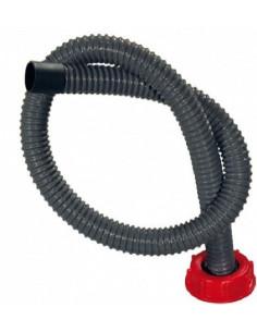 Tubo corrugado de 1 metro con tapón DIN 61 para bidón depósito de aguas residuales.