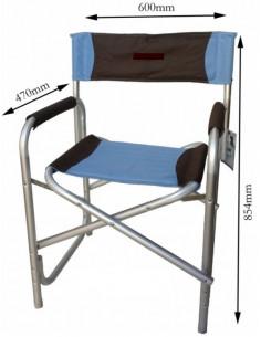Blauer Klappstuhl aus Aluminium - Bayasun