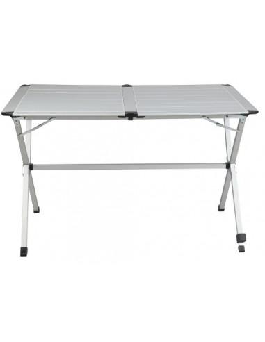 Mesa aluminio plegable 6 personas 140cm tienda de for Mesa plegable 8 personas