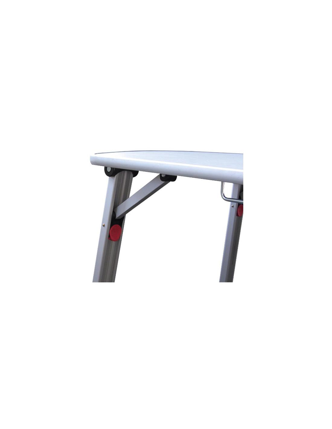 Mesa plegable en aluminio 90 cm tienda de camping online - Mesa plegable camping carrefour ...