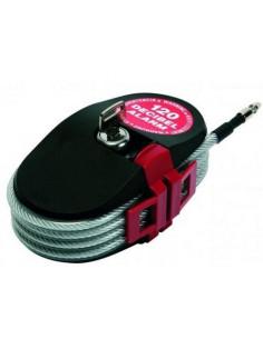 Alarma acústica con cable cerrojo antirrobo de 2.40 metros y altavoz de 120 dB
