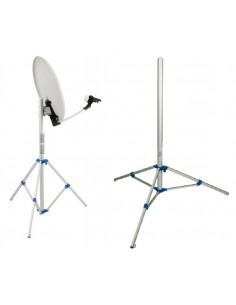 Trépied ultra-léger pliable pour antennes paraboliques