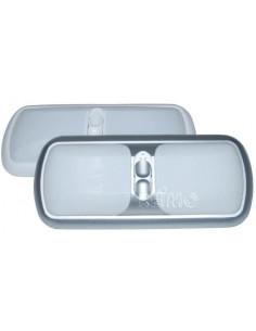 Plafón de 12 V con doble interruptor blanco
