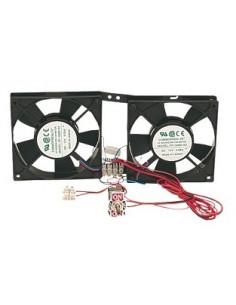 Double ventilateur pour réfrigérateur à absorption avec interrupteur marche / arrêt