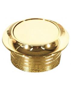 Bouton avec rosace pour serrure Armoire doré de 16 mm