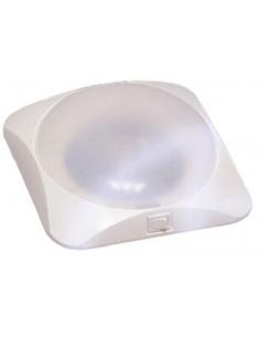Plafonnier LED carré 28,5 x 28,5 cm Blanc
