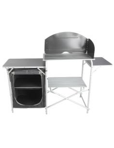 Armoire de cuisine en aluminium Midland Cuisine Agena entièrement pliante