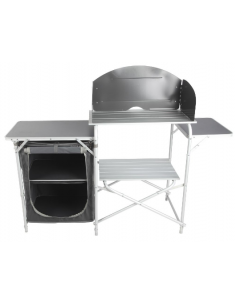 Móvel de cozinha alumínio Midland Cuisine Alaska totalmente dobrável
