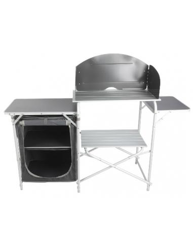 Mueble cocina aluminio Midland Cuisine Egena totalmente plegable