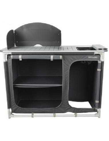 Mueble cocina Midland en aluminio con fregadero