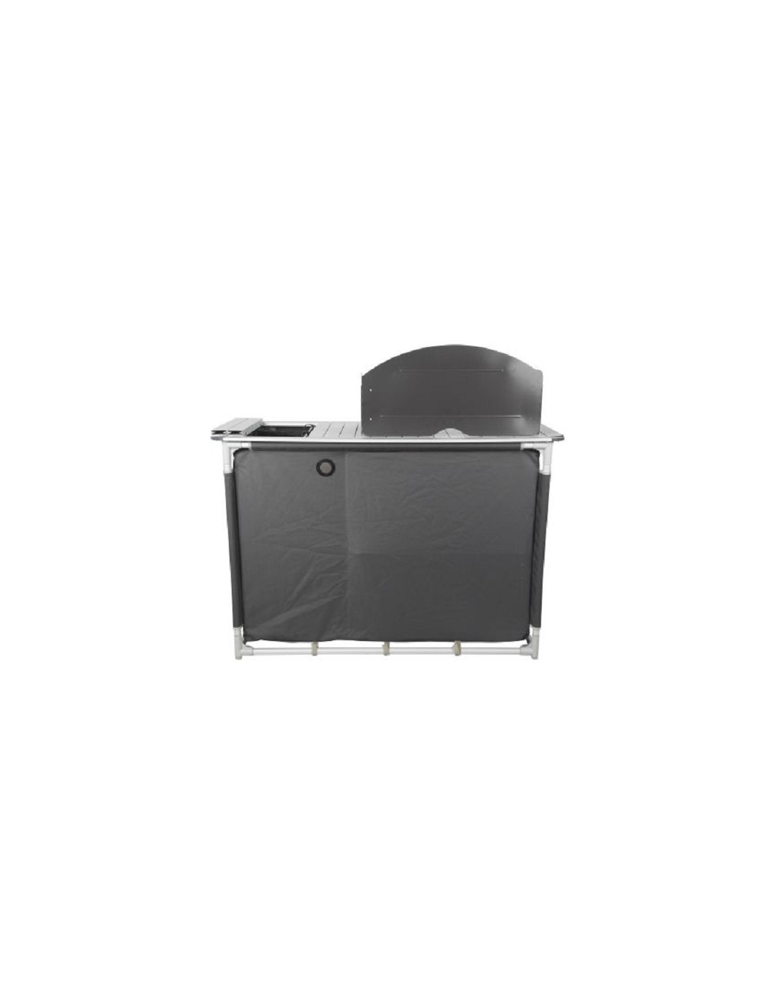 Mueble cocina midland en aluminio con fregadero tienda for Muebles cocina online