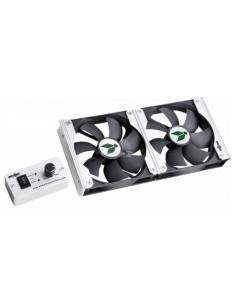 Ventilador duplo para refrigeradores com painel de controle Vento NG 92. Bunner