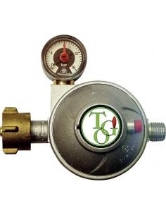Regulador de gas con válvula de seguridad y manómetro (1,5 kg / h)