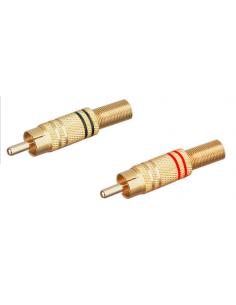Macho coaxial RCA metálico
