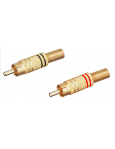 Metallischer Cinch-Koax-Stecker