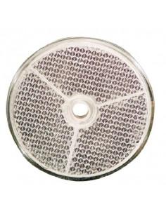 Catadrióptico redondo blanco 61 mm Ø