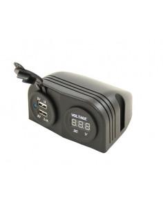 Indicador de voltaje con dos entradas para USB
