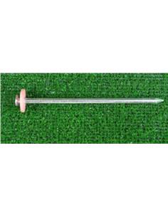 Stahlhacke / Nagel mit Gummischeibe 150mm