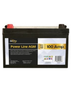 Bateria Auxiliar AGM 100A Power Line Elektron