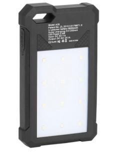 Chargeur solaire et lampe torche Carbest