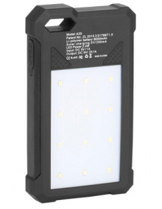 Cargador y linterna solar Carbest