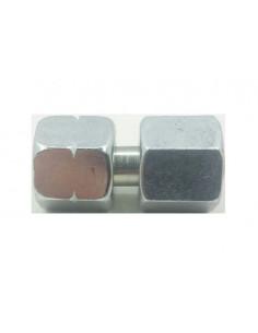 Empalme recto de 1/4 - 8mm para tubo de cobre