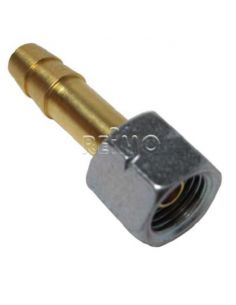 Racord hembra de 1/4 con enlace gas butano de 8-9 mm