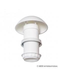 Respiradero circular de plástico-Blanco