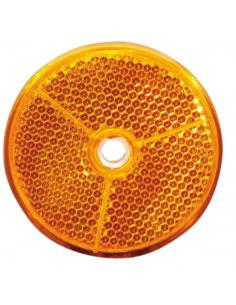Catadrióptico redondo naranja 61 mm Ø