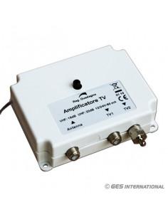 Amplificador TV analógico y digital 12/24V